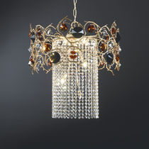 Lampe suspension / de style / en bronze / en cristal