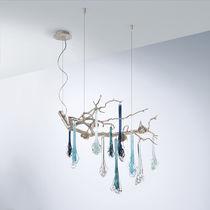Lustre design original / en bronze / en verre / à LED