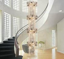 Lampe suspension / de style / en métal / en verre