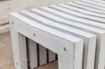 Banc public / contemporain / en composite ciment verre