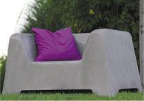 Fauteuil contemporain / en béton / pour espace public / de jardin