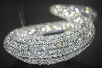 Lustre contemporain / en cristal / en acier inoxydable poli / à LED