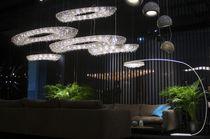 Lampe sur pied / contemporaine / en cristal / fait main