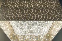 Lustre contemporain / en cristal / halogène / fait main