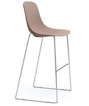 Chaise de bar contemporaine / luge / en acier chromé / en acier peint