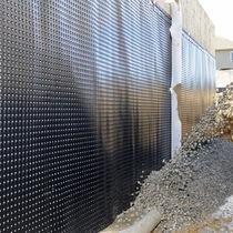 Membrane d'étanchéité en rouleau / pour mur / en polyéthylène haute densité (PEHD) / drainage de fondation