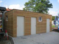 Cabine de toilettes pour espace public / en métal / en bois