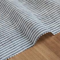 Tissu pour rideaux / à rayures / en lin