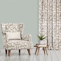 Tissu d'ameublement / pour rideaux / à motif géométrique / en polyester