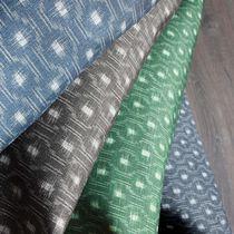Tissu d'ameublement / pour rideaux / à motif géométrique / monochrome