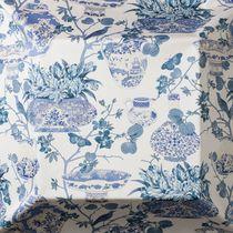 Tissu pour rideaux / d'ameublement / à motif / en coton