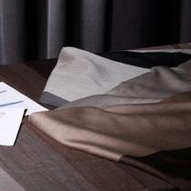Tissu pour rideaux / à rayures / en laine / en Trevira CS®