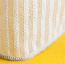 Voilage à rayures / en polyester