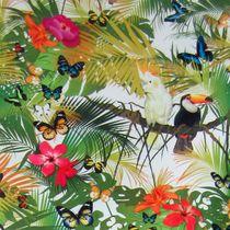 Tissu d'ameublement / à motif nature / à motif animalier / à fleurs