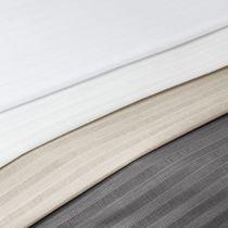 Tissu pour rideaux / à rayures / en polyester / 100% recyclé