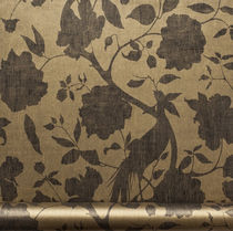 Papiers peints contemporains / à fleurs / lavables / marron