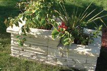 Jardinière en béton / rectangulaire / sur mesure / contemporaine