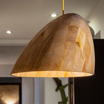 Lampe suspension / contemporaine / en bois
