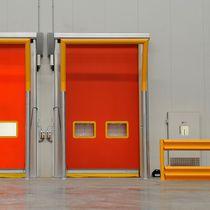 Porte industrielle enroulable / en aluminium / en tissu / automatique