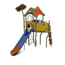 Structure de jeu en plastique / en acier / en HPL / pour aire de jeux