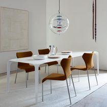 Table à manger contemporaine / en CristalPlant® / rectangulaire