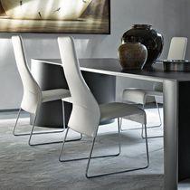 Chaise contemporaine / tapissée / luge / en tissu