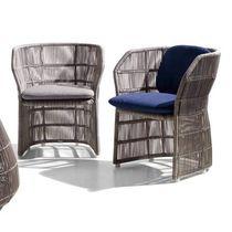 Chaise contemporaine / avec accoudoirs / en tissu / en polyéthylène