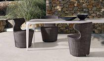 Table contemporaine / en CristalPlant® / rectangulaire / de jardin