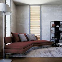 Canapé en arc de cercle / contemporain / en cuir / en tissu