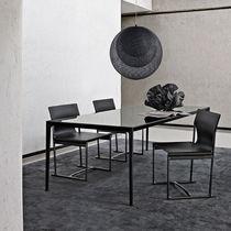 Table contemporaine / en verre / en marbre / en chêne