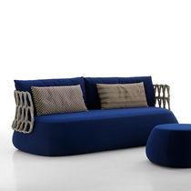 Canapé rond / contemporain / de jardin / en fibres synthétiques