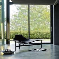 Chaise longue contemporaine / en cuir / en acier / par Jean-Marie Massaud