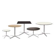 Table bistrot contemporaine / en HPL / en aluminium / ronde