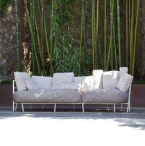 Canapé contemporain / de jardin / en tissu acrylique / en acier