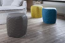 Pouf contemporain / en tissu / modulable / imperméable