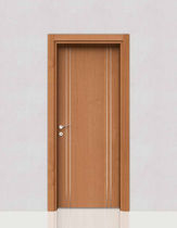 Porte battante / en bois / laminée