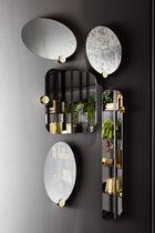 Miroir mural / contemporain / rond / en laiton