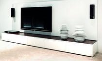 Meuble de télévision contemporain / en bois laqué / en acier