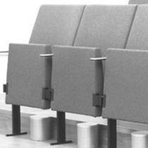 Chaise d'auditorium tapissée / en contreplaqué moulé / en acier