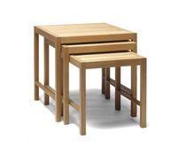 Table gigogne contemporaine / en chêne / en frêne / en bouleau