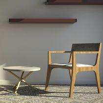 Table basse contemporaine / en terrazzo / en béton / ronde