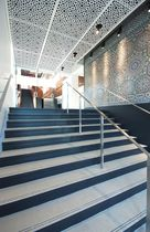 Faux-plafond en inox / en dalles / décoratif