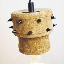 Lampe suspension / design original / en métal / en liège