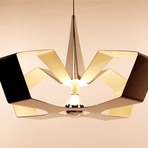 Lampe suspension / contemporaine / en aluminium / noire