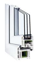 Fenêtre battante / en PVC / à triple vitrage / à coupure thermique