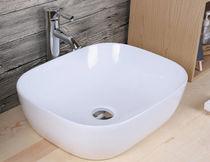 Vasque à poser / rectangulaire / en céramique / contemporaine