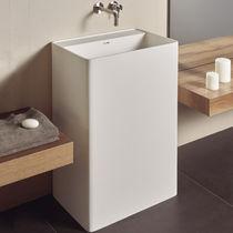Vasque sur pied / rectangulaire / en céramique / contemporaine