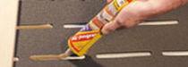 Sous-couche résiliente en panneau / en fibre de bois / isolant / pour parquet