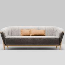 Canapé contemporain / en tissu / en chêne / 2 places