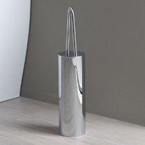 Brosse de toilette en chrome / en laiton / de sol